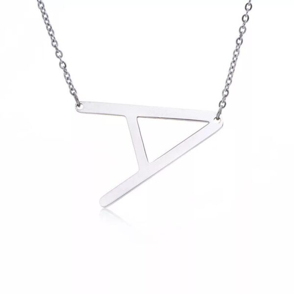 ssteel color gold Stainless steel Jewelry Alphabet Letter Necklace Chain
