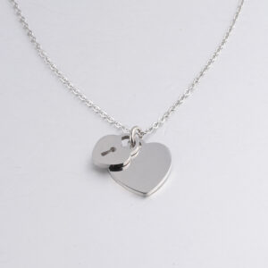 18K-Necklace-Peach-Heart-Chain