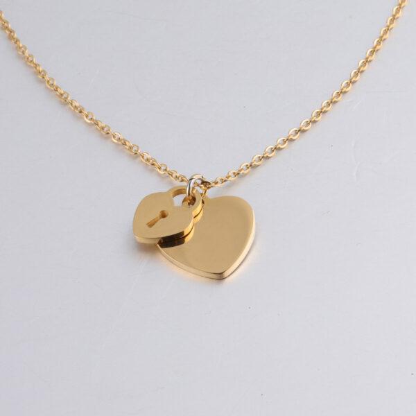 18K-Necklace-Peach-Heart-Chain1