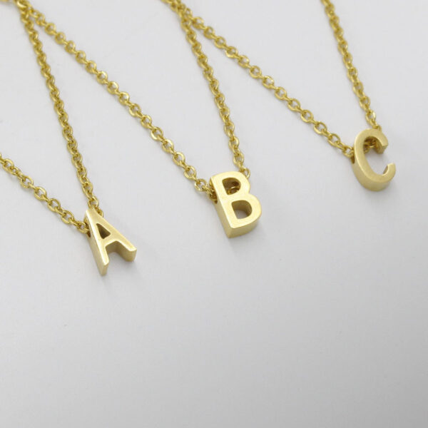 Custom-Necklace-A--Z-26-English-Letters-Necklace-Pendant
