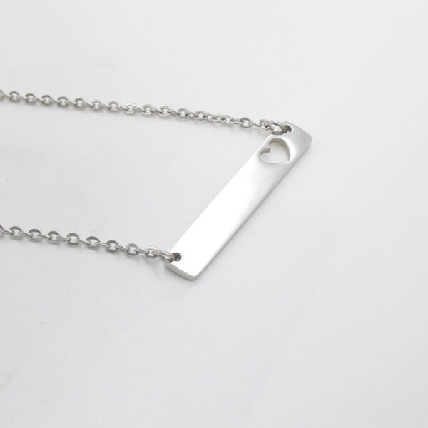 Rectangular-Heart-Hollow-Necklace-Chain